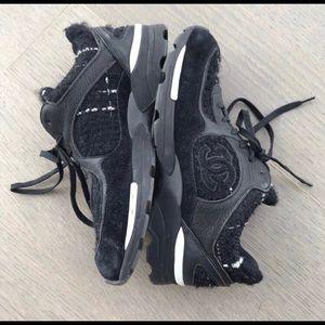 Rare Chanel tweed sneakers